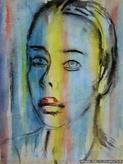 Marthe 1975, watercolour, The Gerard Sekoto Foundation (Wits Art Museum)