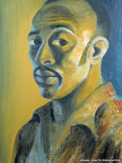 Sekoto 1947, oil on canvas board, Private Collection