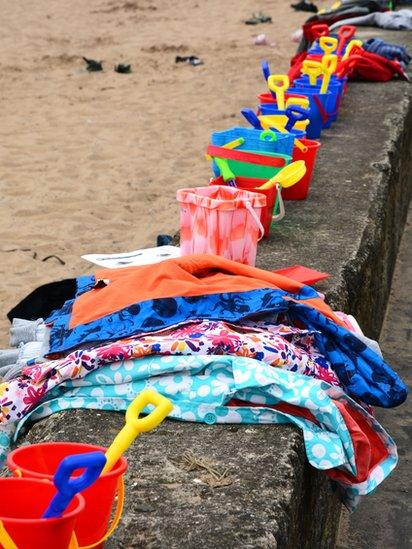 Buckets and spades at the beach