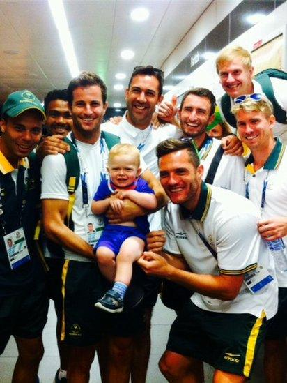 Baby and the South African hockey team