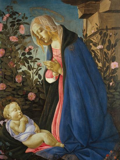 The Virgin Adoring the Sleeping Christ Child (c.1490), by Sandro Botticelli