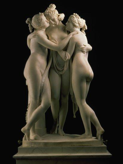 The Three Graces - Aglaia, Euphrosyne and Thalia (1815 - 1817), by Antonio Canova