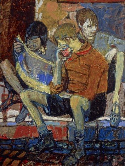 Street Kids (c. 1949-51), by Joan Eardley