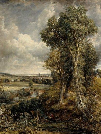 The Vale of Dedham (1828), by John Constable