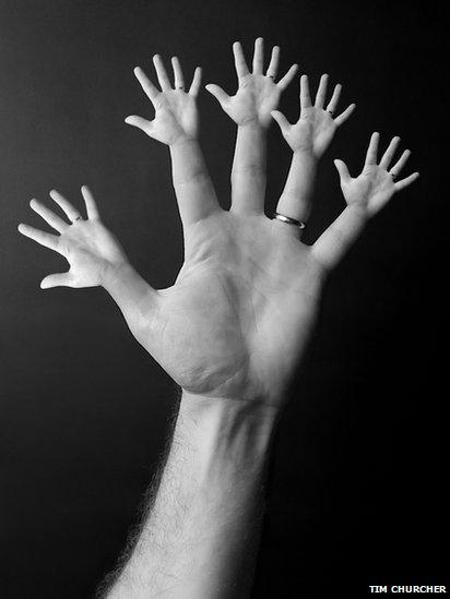 Hands (Manipulated photograph)