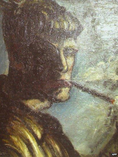 Self-portrait by Otto Dix, unveiled by the German authorities in Augsburg, 5 November