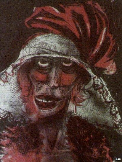 Painting by Otto Dix, unveiled by the German authorities in Augsburg, 5 November
