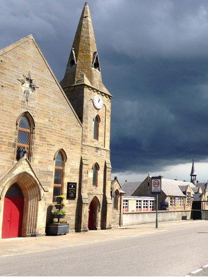 Storm clouds over Burghead