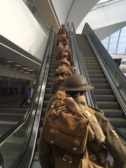 World War One soldiers at Birmingham Grand Central railway station