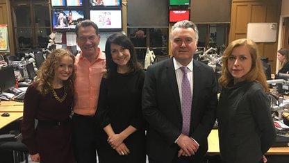 Kate Williams, Michael Portillo, Liz Kendall, John Nicolson and Agnes Poirier