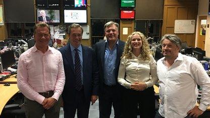 Michael Portillo, Nigel Farage, Ed Balls, Rosa Prince and Richard Herring