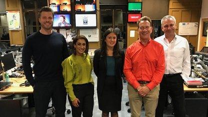 Rick Edwards, Saira Khan, Lisa Nandy, Michael Portillo and Kevin Maguire