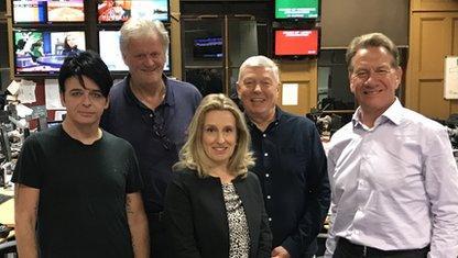 Gary Numan, Tim Martin, Miranda Green, Alan Johnson, and Michael Portillo