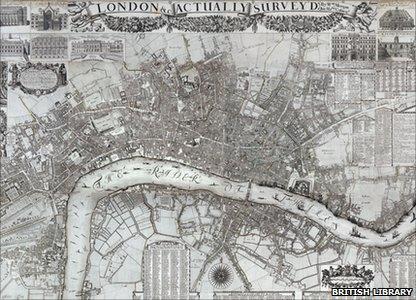 1682 London map