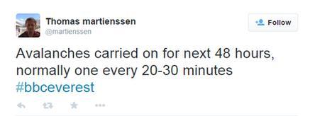 Tweet by the BBC's Thomas Martienssen