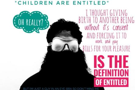 Image from Nihilanand Facebook page on parents being the definition of entitled