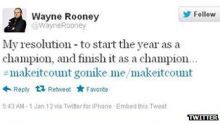 Wayne Rooney Twitter Campaign for Nike
