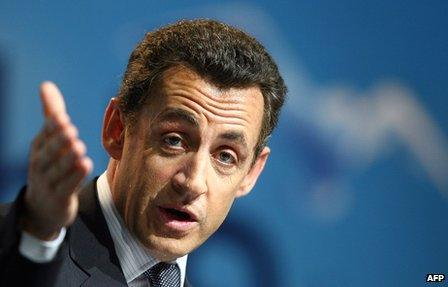 Nicolas Sarkozy speaking in the French overseas territory of Reunion during his campaign for the presidency in 2007