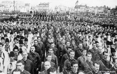 Iron Guard parade