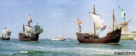 Replicas of the ships of Christopher Columbus