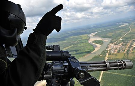 Colombian military helicopter