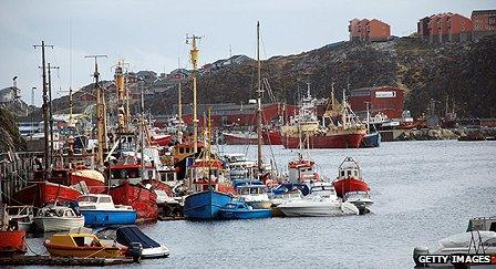 Port in the capital Nuuk