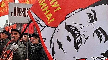 Supporters of Stalin in Moscow