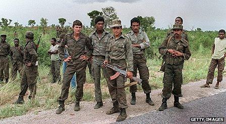 Cuban troops in Angola in 1988