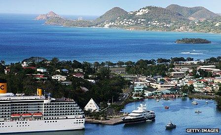 Castries, capital of St Lucia