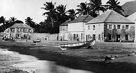 Beach on St Kitts in the 1920s