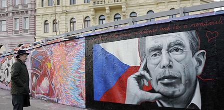 Mural of Vaclav Havel