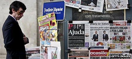 Newspaper kiosk in Portugal
