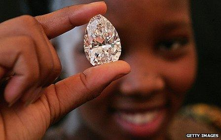 Stone cut from 'Lesotho Promise'