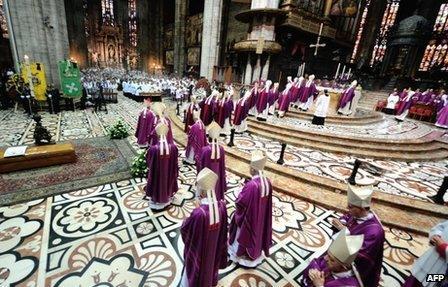 The funeral of Italian cardinal Carlo Maria Martini