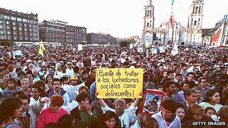 Demo in Mexico City 1995