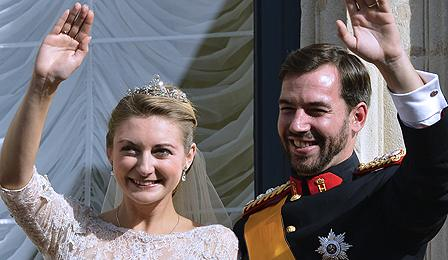 Prince Guillaume and new wife Stephanie de Lannoy