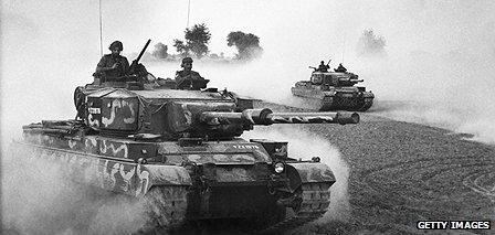 Indian tanks during the independence war