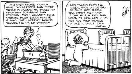 The first Little Orphan Annie comic strip