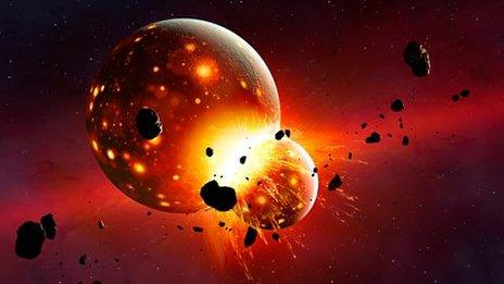 Planet crashes into early Earth