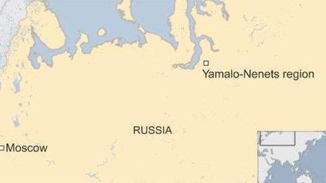 Russia map - Yamalo-Nenets
