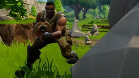 Fortnite Battle Royale adds cheeky warning for students - BBC News