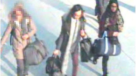CCTV of the three girls