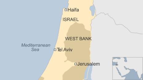 Map showing Haifa