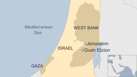 Map showing Gush Etzion