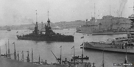 British naval vessels in Malta