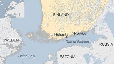 Finland map/Porvoo