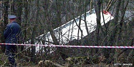 Smolensk plane crash scene