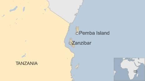 Map of Zanzibar and Pemba