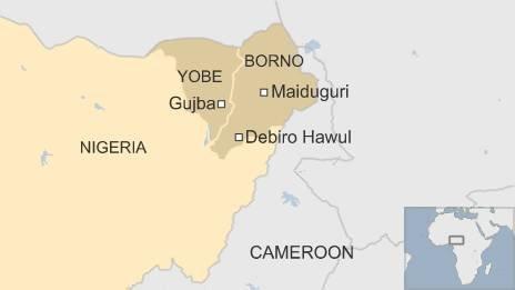 Map of Borno 24 June 2015