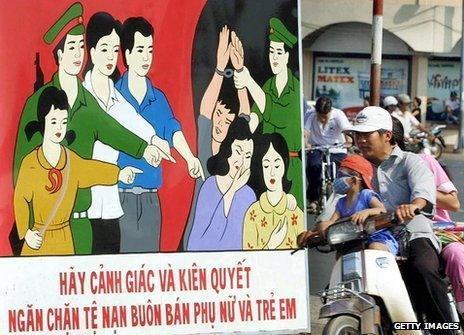 A vietnamese anti-trafficking poster